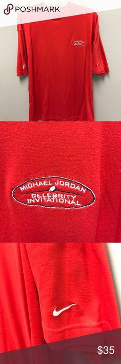 Michael Jordan shirt Michael Jordan mock turtleneck celebrity golf invitational Nike shirt Nike Shirts Tees - Short Sleeve