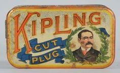 Porción # : 77 - Kipling Cut Plug Tobacco TIn.