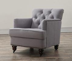 TOV Furniture Felicity Light Blue Linen Chair