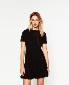 Image 2 of BOW DRESS WITH FLOUNCE HEM from Zara