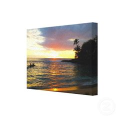 Sunset on the Beach  Customize this one of a kind canvas wrap.    #CanvasWrap