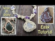 How To Wrap A Stone With String - An Easy Jewelry Tutorial -  No glue needed. Wrapping a stone can open the door to lots of creative ideas.  I also plan to make a video to show you how I made this necklace and how I attach a wrapped gemstone. It really does make a beautiful necklace. We CAN make beautiful jewelry at a low cost. The best part is... IT IS SO MUCH FUN!!