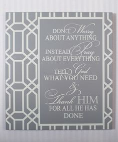 Another great find on #zulily! 'Don't Worry About Anything' Wood Sign #zulilyfinds