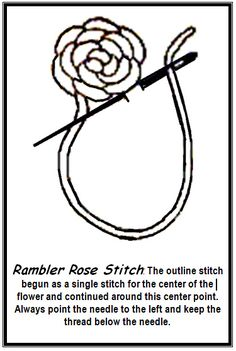 rambler rose stitch