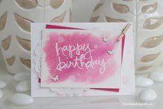 Handmade by Julie: Happy Birthday - Watercolor Words
