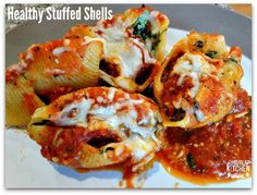 21 day fix approved Stuffed Shells! Clean eating. Healthy Italian food
