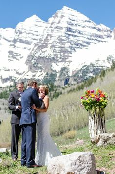 Maroon Bells Mountain Wedding, Aspen, Colorado - Wedding flowers and wedding bouquet by Mountain Flowers of Aspen