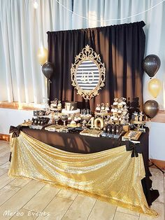 first birthday photo girl 70th Birthday Parties, 50th Party, Graduation Party Decor, Gold Party, Mom Birthday, Anniversary Parties, Birthday Party Decorations, Gatsby Themed Party, Adult Party Themes