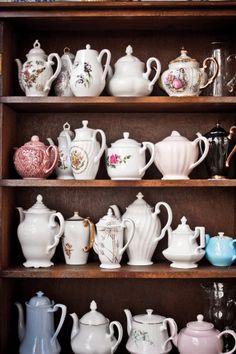 Teapots at the Hidden Treasure Tea Room!