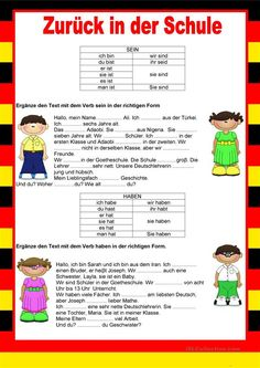 I Am Cold, German Grammar, German Language Learning, Learn German, Sentences, Worksheets, Kids, Culture, German Language
