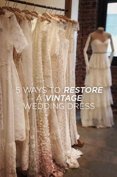 Whether your vintage wedding dress is in fabulous condition, outdated, or in need of repair, read on for our top five tips for restoring and reusing a vintage wedding dress!