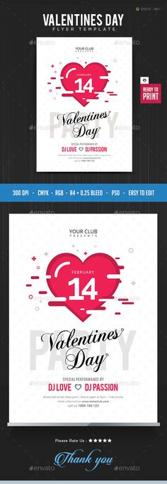 #Valentines #Day #Flyer Template - Flyers Print Templates