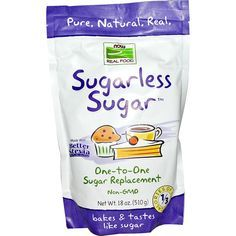 Now you can sweeten your favorite foods, recipes, and beverages just like sugar, without all of the calories. Ellyndale Naturals Sugarless Sugar revolutionizes the way you bake as a one-to-one sugar r