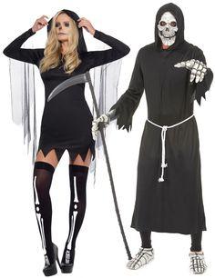 4d0a85bbca45 Costume di coppia da Morte per adulti Halloween  Questo costume di coppia é  composto da