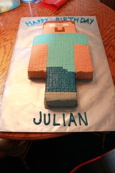 Minecraft Cake - potentially even easier than a square.