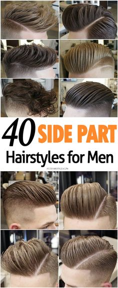 Side Part Hairstyles for Men :: #atozhairstyles