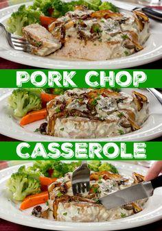 We've got a diabetic-friendly version of your favorite casserole, Pork Chop Casserole! It's the perfect weeknight dinner recipe.