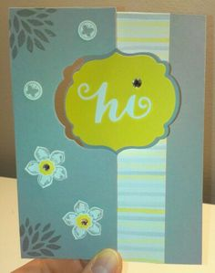 Card, Stampin' Up!, Thinlits Pop Up Card Label, Petite Petals, Itty Bitty Bits, Petal Parade