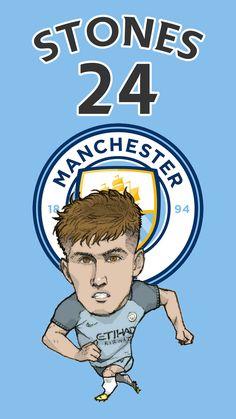 Manchester City No.24 John Stones Fan Art