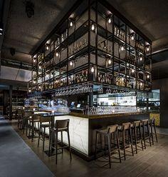 Nijboer - Paviljoen van de Dame #restaurant #bar #tafel #barkruk #interieur