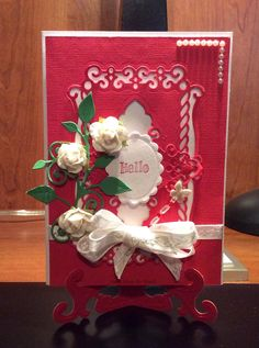 Hello card with flowers