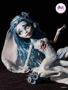 Emily-The Copse Bride Corpse Bride Doll, Emily Corpse Bride, Tim Burton Art, Monster High Dolls, Dollhouse Dolls, Bjd, Art Inspo, Creepy, Doll Clothes