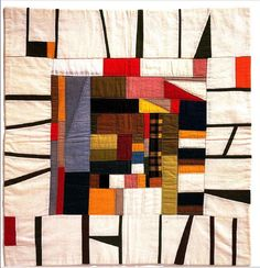 Vintage Kimono (silk) quilt by Junko Maeda Small Quilts, Mini Quilts, Quilting Projects, Quilting Designs, Quilting Ideas, Quilt Design, Block Design, Quilt Inspiration, Gees Bend Quilts