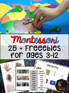 Free Montessori Primary and Elementary resources for children aged 3-12, Montessori math, language and cultural