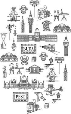 Imagine Budapest Merchandising on Behance Tattoo Budapest, Budapest Travel, Hungary Travel, Travel Sketchbook, Bullet Journal Ideas Pages, Budapest Hungary, Travel Scrapbook, Vintage Travel Posters, Lettering