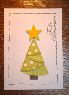 Schnelle Idee für Weihnachtskarten