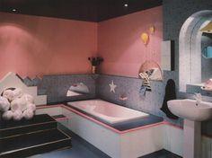"palmandlaser: From ""The International Collection of Interior Design"" 80s Interior Design, Mid-century Interior, Interior Architecture, Interior Decorating, Decorating Games, Discount Interior Doors, Interior Doors For Sale, Vintage Interiors, Colorful Interiors"