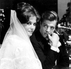 """Claudia Cardinale and Marcello Mastroianni in """"Il bell'Antonio"""" directed by Mauro Bolognini, 1960."""