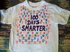 Image detail for -Cats, Kids and Crafts: Day of School Shirt – 2012 - 4 100 Day Of School Project, 100 Days Of School, School Fun, School Projects, School Stuff, School Ideas, Class Projects, School Parties, 100 Day Shirt Ideas