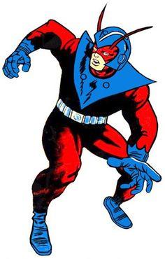 Hank Pym in his original Giant-Man uniform.  Art by Jack Kirby.