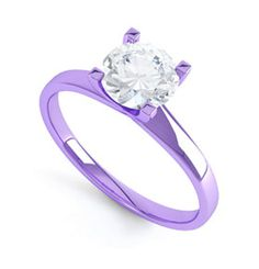 Jewelry Junkie - purple gold engagement ring
