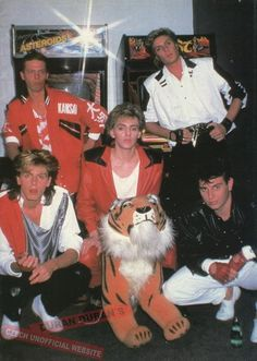 duran duran. They're either very bored or very tired.. or both!
