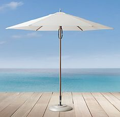 Products umbrellas and ocean on pinterest for Restoration hardware outdoor umbrellas