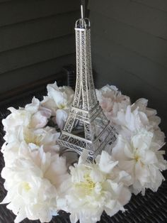 Centerpiece idea for a Paris theme quince
