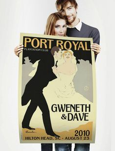 Vintage Wedding Posters... Maybe Vintage albums instead?