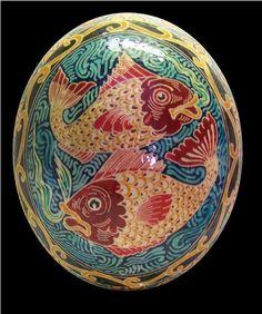 A gorgeous Ukrainian Easter Egg Design... just remarkable!