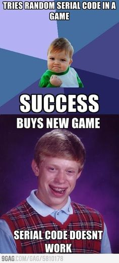 Bad Luck Brian bought new game