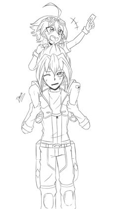 """dakuran: """" @ breakdawn-avenue: """" Zarc and baby Yuya (or Yuya being a little child about 3 - 5 years old?). if you draw kids that is… '' AHHHHHHHHSAHSAD my headcanon!!!! Just let me die right now……… (Someone please remind me to color this later!!!) """""""