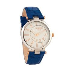 Gold Watch, White Leather, Seasons, Blue, Accessories, Seasons Of The Year, Jewelry Accessories