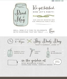 http://www.hitched.mn/  A very lovely website with hand lettering and drawings - and a fresh, light palette.