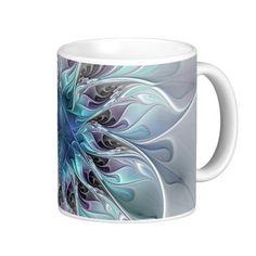 Flourish, abstract and modern Fractal Art Coffee Mug