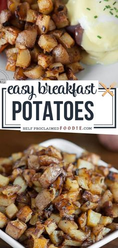seasoned and delicious Easy Breakfast Potatoes for a hearty breakfast! You will love these breakfast potatoes for a crowd! They are tender and soft on the inside and nicely crisp on the outside. This oven recipe is perfect to start your mornings! Oven Recipes, Brunch Recipes, Breakfast Recipes, Cooking Recipes, Breakfast Ideas, Potato Recipes, Breakfast Toast, Best Breakfast, Healthy Hearty Breakfast