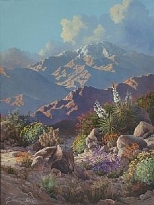 "Embellished Winters Bloom (giclee') by J.Lewis Bowker Fine Art Giclee' ~ 40"" x 30"""