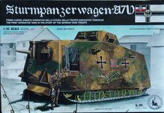 - Montage du char et du diorama pour René . - Cette boite date de 1980 par TAURO MODEL - Le Sturmpanzerwagen A7V (véhicule d'assaut blindé) fut le seul char d'assaut développé et déployé par l'armée allemande durant la Première Guerre mondiale. - Sa mise...