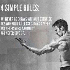 Never give up #FitnessInspiration