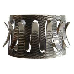 Cuff | Grete Prytz Kittelsen for Tostrup.  Sterling silver.  ca. 1950s, Norway.